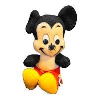 "California Stuffed Toys Disney Vintage Mickey Mouse 14"" Damaged Nose"