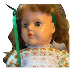 "IMCO Walker Doll 1950s Jointed Vinyl Head Plastic Body 22"""