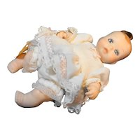"""Bisque Mini Baby Doll Hand Painted Face Pony Tail Hair 4 3/4"""""""