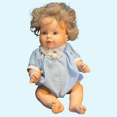 "Playmates 1995 Baby So Beautiful 12"" Vinyl Doll Blond Blue Eyes"