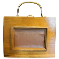 Caro-Nan Wood Box Purse