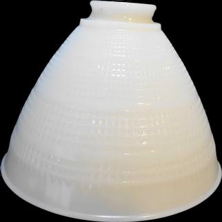 Milk Glass Torchiere Shade Diamond Waffle Pattern