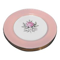 Cunningham & Pickett Norway Rose Dinner Plates Set of 4