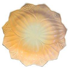 Fire King Blossom Leaf Peach Vitrock Plate