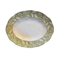 """J&G Meakin Renaissance Sterling Colonial Green 12"""" Oval Platter"""