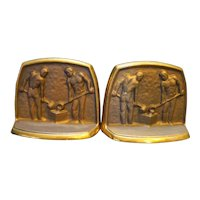 Solid Brass Foundry Pour Sculptural Bookends