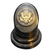 Supreme Court of the United States Seal Simulated Marble Paperweight John Wills Studios