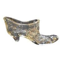 Fenton Clear Daisy Button Shoe Slipper