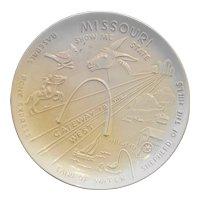 Frankoma Missouri Souvenir Plate