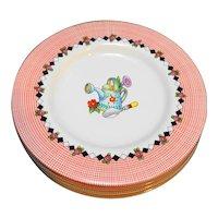 Garden Time Mary Engelbreit Sakura Bread Plates Set of 4