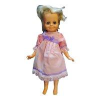 """Ideal Toys Velvet Crissy Family 15"""" Blond Hair Grow Doll 1969 Pink Dress"""