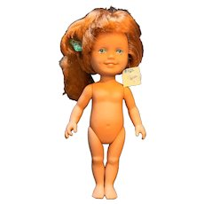 1987 Playskool Surprise Doll Red Head Ponytail Crimped