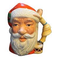 """Royal Doulton Santa Claus Mug Doll Handle 7"""" Tall 1981 D 6668"""