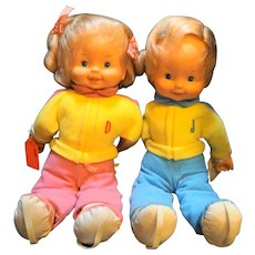 Jim & Dandy Toddler Twins Ideal Dolls CBS Toys 1985