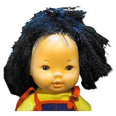 Shindana Asian Drink Wet Baby Girl Doll 1976 Hong Kong