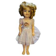 Shirley Temple Ideal Doll 1950s Vinyl ST-17 Flirty Eyes Pink Dress