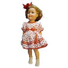 Shirley Temple Ideal Doll 1950s Vinyl ST-17 Red Polka Dot Dress