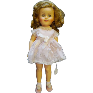 Shirley Temple Ideal Doll 1950s Vinyl ST-15 Pink Floral Dress