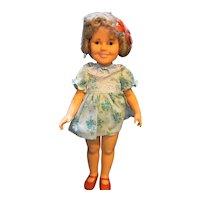 Shirley Temple Ideal Doll 1950s Vinyl ST-17 Flirty Eyes Blue Floral Dress