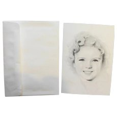Shirley Temple Art Greeting Card Knox Biographical Fan Mail