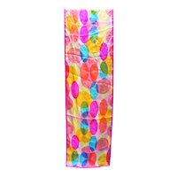 Echo Easter Egg Ovals Bright Spring Summer Colors Oblong Silk Scarf