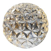 Waterford Crystal Star of Hope Times Square 2000 Solid Ball Paperweight