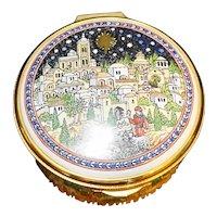 Staffordshire Enamels Christmas O Little Town of Bethlehem Ltd Ed 299/500 1997