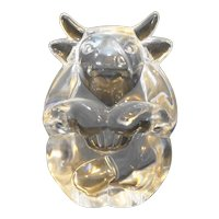 Steuben Art Glass Signed Hand Cooler Bull 5524