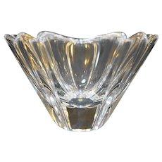 "Orrefors Orion 5"" Bowl Lead Crystal Six Panels Sides"
