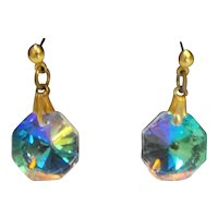 AB Crystal Rivoli Prism Dangle Earrings
