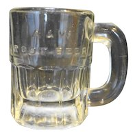 "A&W Root Beer Mini Mug Embossed Logo 3 1/4"""