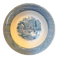 """Royal China Currier & Ives Early Winter Rimmed Soup Bowl 8 1/2"""""""