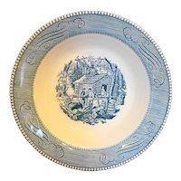 "Royal China Currier & Ives Maple Sugaring Serving Bowl 9"""