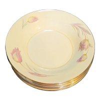 Homer Laughlin Eggshell Nautilus Tulip Rimmed Soup Bowls Set of 8