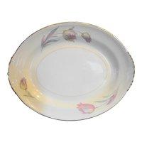 """Homer Laughlin Eggshell Nautilus Tulip Oval Platter 11"""""""