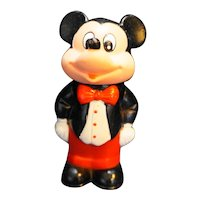 "Tootsietoy Mickey Mouse Figurine Disney 1986 4 1/2"""