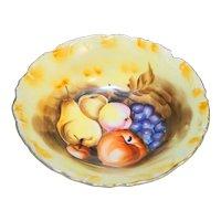 "Enesco Hand Painted Fruits Bowl Japan 8"""