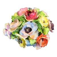 Royal Adderley Floral Bone China Bouquet Porcelain Blue Pot