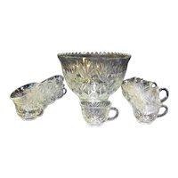 Hazel Atlas Heritage Punch Bowl Cups Set 18 Pieces