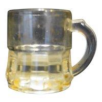 Federal Glass Mini Stein Mug Clear Glass Shot