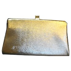 Gold Lame Evening Bag Clutch