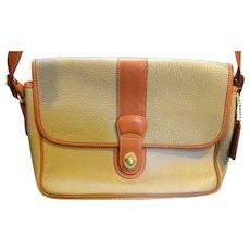 Coach Sheridan Pebbled Leather Messenger Bag Purse Taupe British Tan
