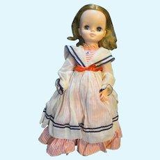 "Effanbee 17"" Doll Vinyl 1965 1700 Sailor Dress Apron"