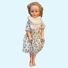 1950s Vintage Fashion Doll Rooted Hair Sleep Eyes AE 14 OG 12