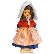 Souvenir Doll Symbol of Quality Made in Hong Kong 7013 Apron Shawl Bonnet