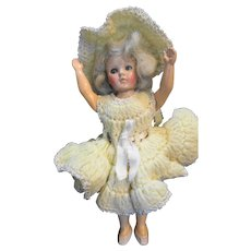 Duchess Doll Corp 1948 Blonde Hard Plastic Doll Handcrafted Crocheted Dress