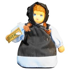 "Springford Amish Girl Doll Vinyl Cloth 5"""