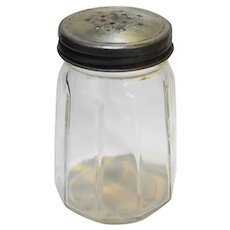 Clear Glass Paneled Shaker Sugar Salt Pepper C.C. CO.