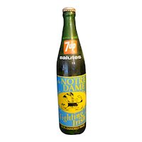 7UP Notre Dame 1973 National Champions Bottle Full Unopened