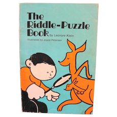 The Riddle-Puzzle Book by Leonore Klein 1979 Paperback